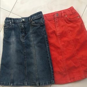 Bundle of two cute skirts for girls